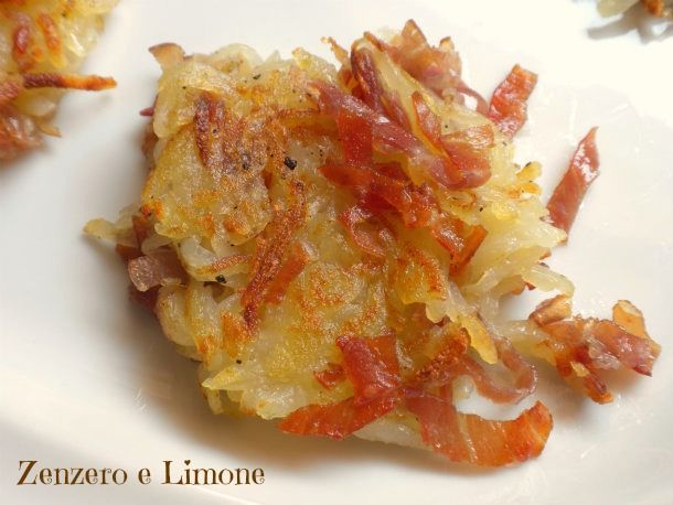 mini rosti con prosciutto crudo, maybe with a slightly classier presentation and as an hors d'ouevres