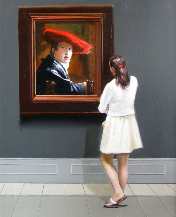 The Girl with the Red Hat by Michael Dvortcsak