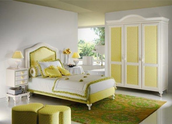 Awesome Yellow Love Themes Bedroom,.