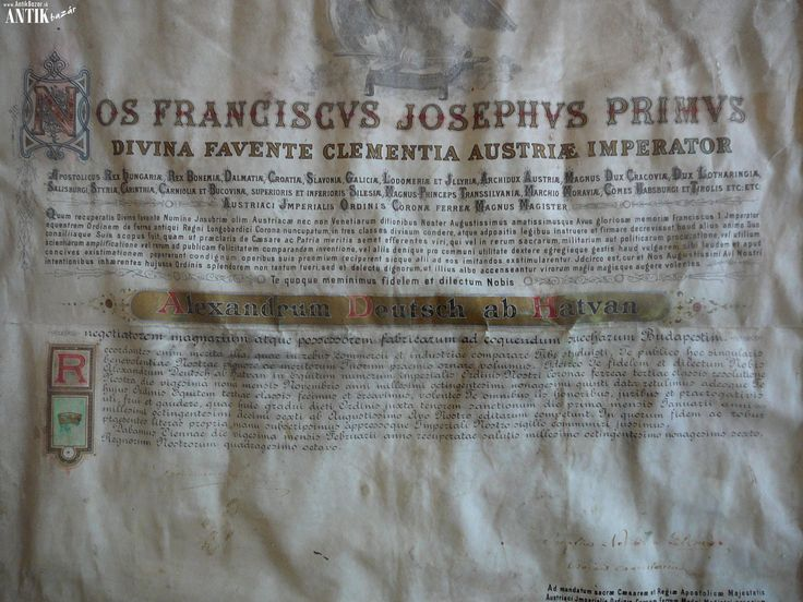 Antik Bazár Sk | PERGAMENOVA LISTINA FRANTISKA JOZEFA I. - Predaj