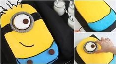 How To Make A Despicable Me Minion Cake - http://www.homedecoratingdiy.net/how-to-make-a-despicable-me-minion-cake