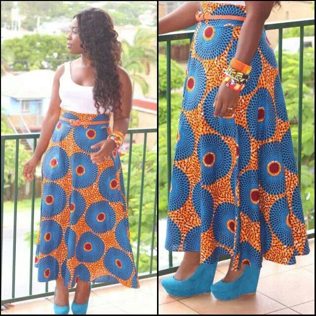 Printed High Waisted Skirt