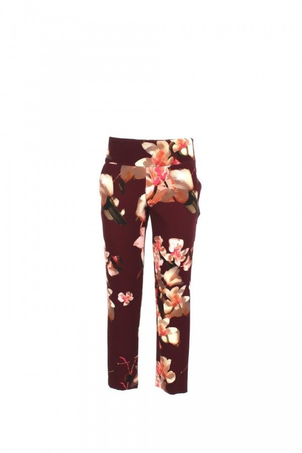 Atos Lombardini PO4035 Flore Bordeaux Broek Outlet The Outletstore by Mari Lamy