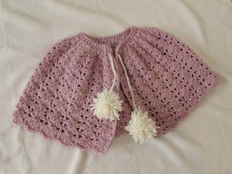 VERY EASY crochet winter shrug / shawl / poncho - any size - YouTube