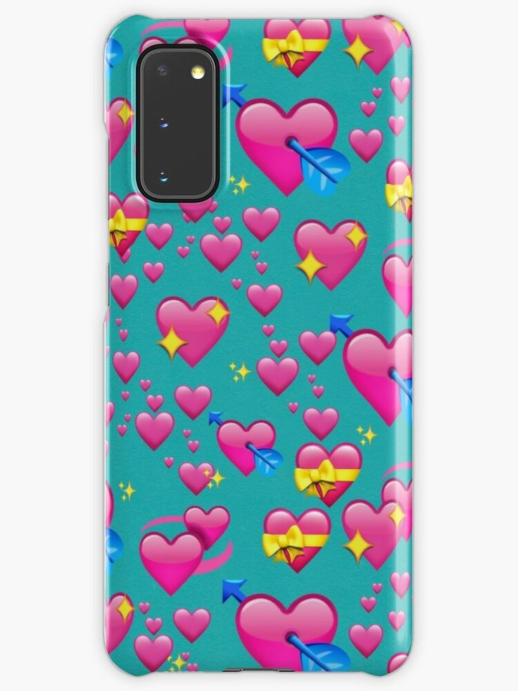 Heart Love Pink Emojis Pattern Seamless Internet Heart Emojis In Teal And Pink Samsung Galaxy S20 Snap By Another Apple Club In 2020 Teal And Pink Emoji Samsung Galaxy Cases