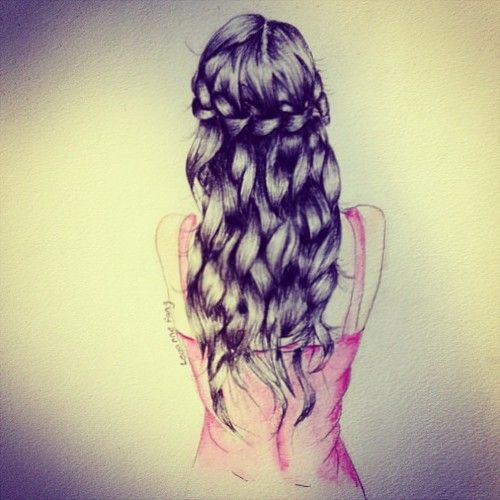 Beautiful braid drawing girl inspiring picture on for Beautiful drawings tumblr
