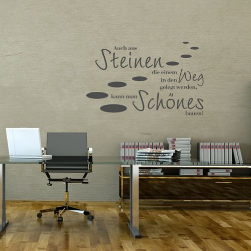 wandtattoo auch aus steinen wandtattoos pinterest wandtattoos wandtattoo und zitat. Black Bedroom Furniture Sets. Home Design Ideas