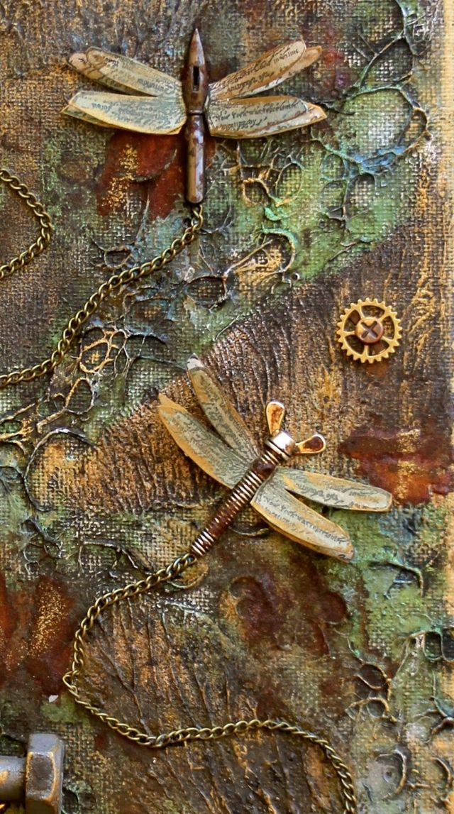 Steampunk Style Mixed Media Canvas - Flying Unicorn | Scrapping On The Edge | Bloglovin'