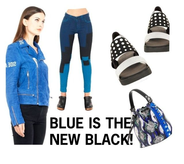 Blue is the new black ! by thequeenstore on Polyvore featuring moda, Fifteen And Half, Carolina Wyser and SALAR