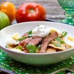 Mexican Chilaquiles Recipe with Marinated Skirt Steak | ASpicyPerspective.com — A Spicy Perspective