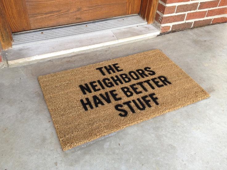 das hilft bestimmt. Welcome Mats, Stuff, Doormat, Home Security, Funny, Front Doors, Floors Mats, House, Laughter
