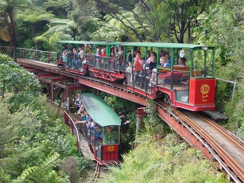 """Barry Brickell's """"Driving Creek Railway"""" Coromandel, Nth Is. NZ. One mans passion to build NZ's only Narrow Gauge Mountain Railway.  Thirty-odd years, help from lots of friends, labour & engineer it all yourself, Viola!   One of the absolutely top ten Rail Trips in the World!    And.. A hand-craft Pottery, a Replanted Native Forest... A Heritage Gift to the Nation.... TotAmaze! Bill.   More detail: http://www.drivingcreekrailway.co.nz"""