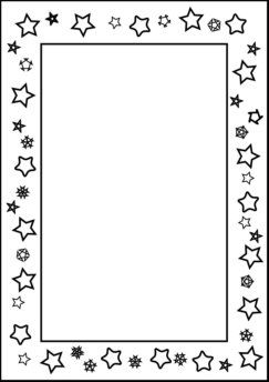 coloring border pages for kids | Free Printable Page Borders for Kindergarten | Page ...