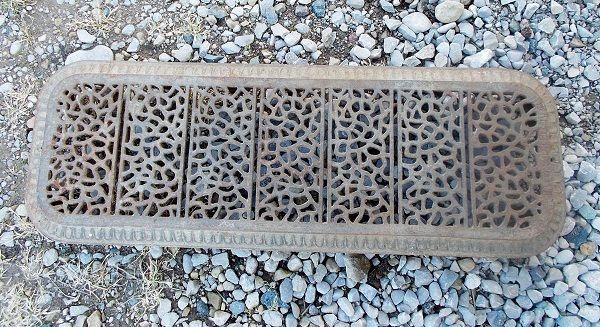 1887  cast Iron radiator cover