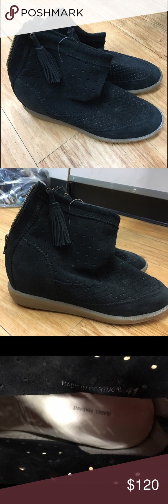 Isabel Marant Basley heeled sneaker boots - 41 These are in excellent condition. Hardly worn. Have the two tassels hanging on each side. Love them!! Hate to let them go!! Flash sale!! They say 41 but they're really a size 10. European sizes are weeeiiiird! Also being sold on Poshmark and online for $300-375!! Amazing deal! Isabel Marant Shoes Ankle Boots & Booties