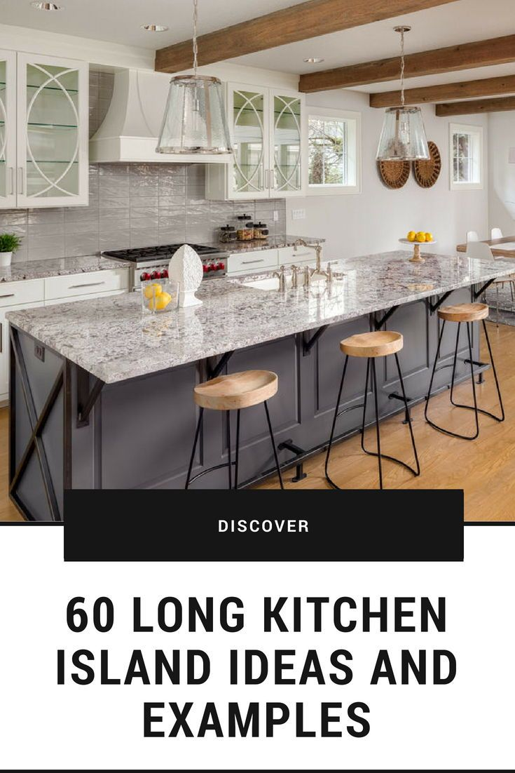 Long Kitchen Design Pictures 60 Long Kitchen Island Ideas And Examples Photos Beautiful