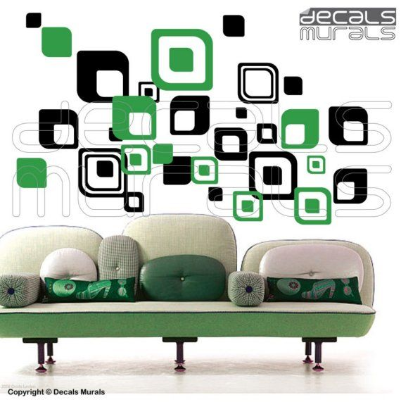 Wall Decals SHAPES ROUND SQUARES Vinyl surface by decalsmurals, $69.99