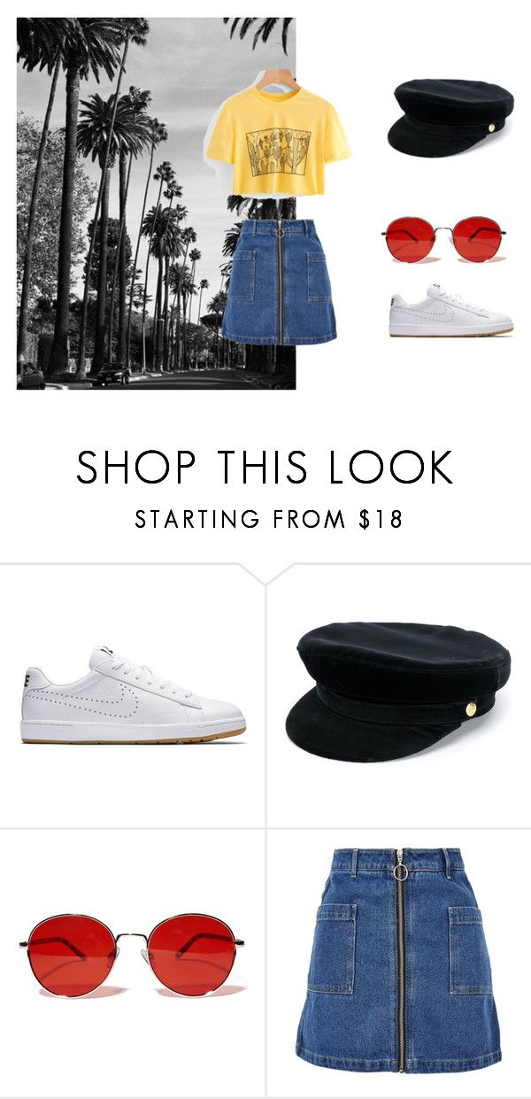 """#4"" by chloe-pickering on Polyvore featuring NIKE, Manokhi, Fantas-Eyes and Topshop"