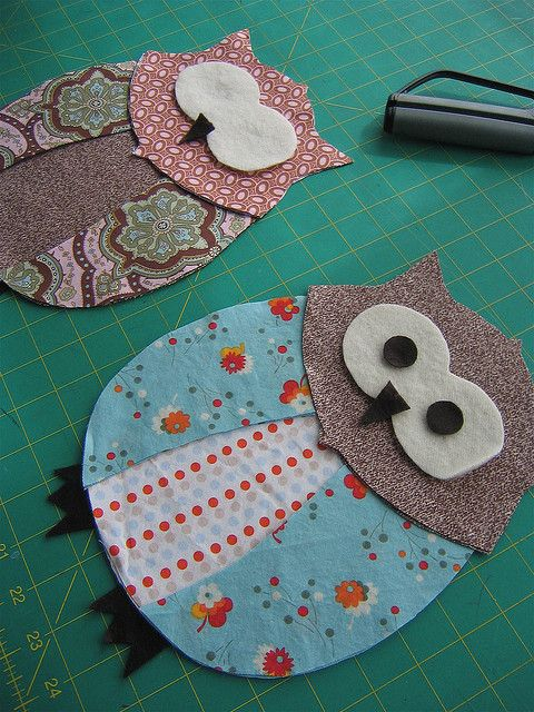 For homemade owl quilt... would make for a cute applique on a pillow too!