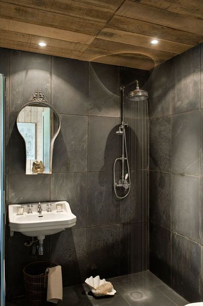La salle de bains minérale