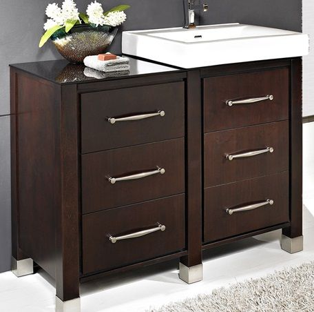 fairmont designs midtown modular modern bathroom vanity in espresso - Fairmont Vanities