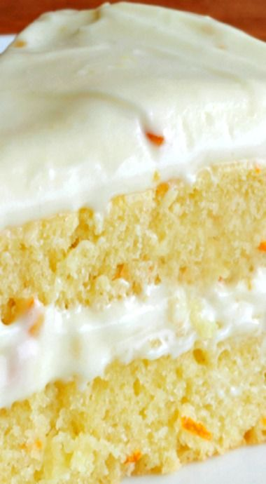 ♔ Orange Buttermilk Cake with Orange Cream Cheese Frosting