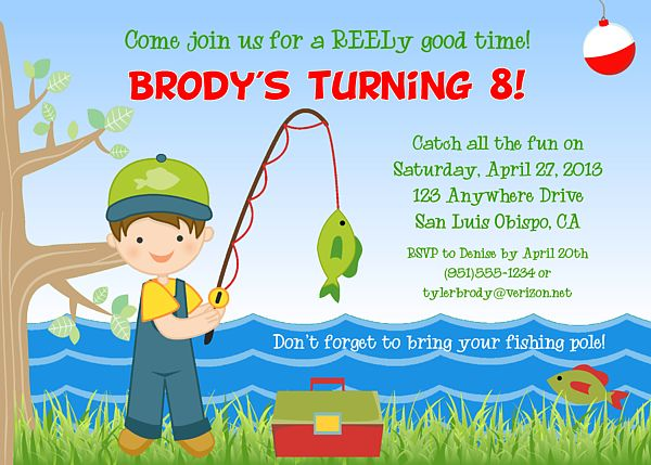 Fishing Birthday Party Invitations