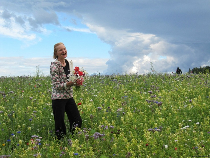Pictures of the Day 21th July 2012: picking flowers from a free-picking field by City of Helsinki. Thank you, my hometown!