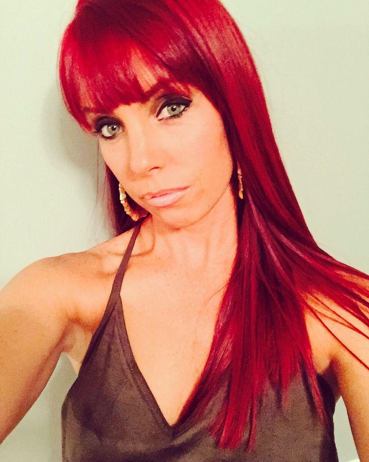 Red Hair Loreal Hicolor Highlights Bangs Long