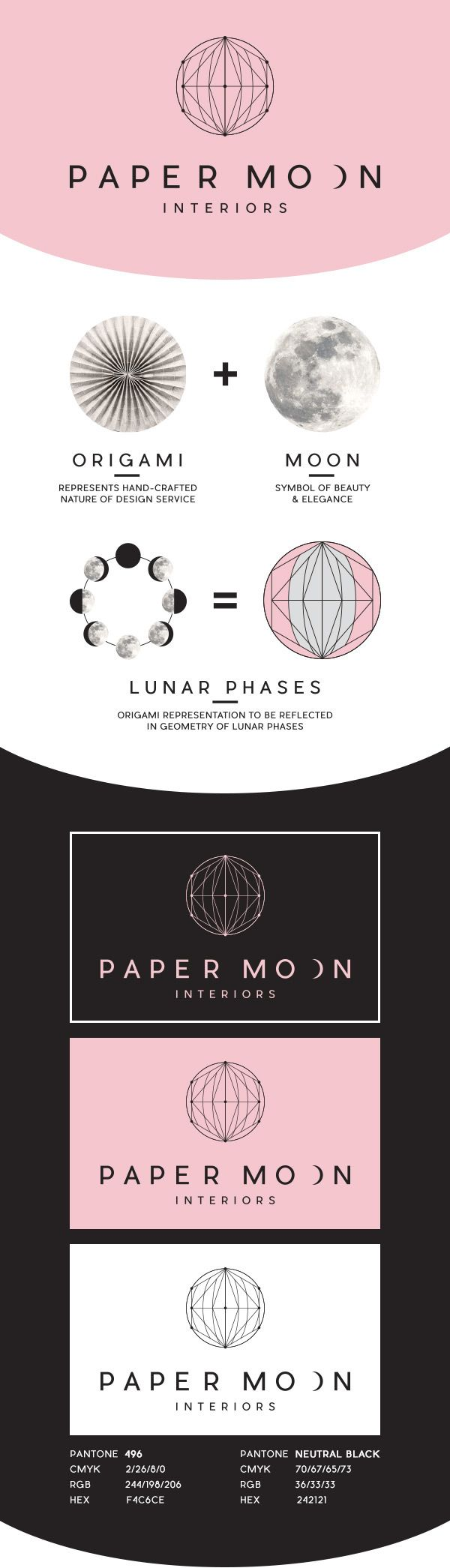 Paper Moon Interiors Branding on Behance