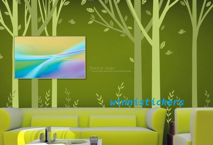 Vinyl Wall Decal Nature Design Tree Wall Decals Wall stickers Nursery wall decal wall art------forest decal.