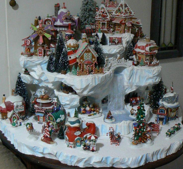Custom miniature Christmas village display platform