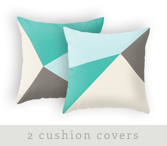Teal and brown cushion cover teal and brown throw by LatteHome $42.63.
