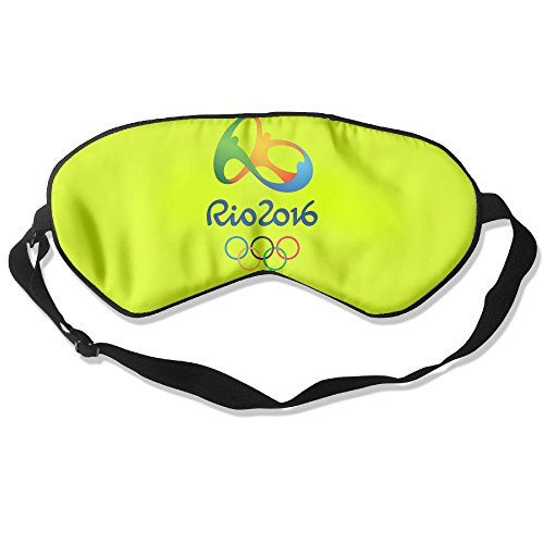 WLHZQS The 2016 Rio De Janeiro Olympic Games Logo Natural Silk Eye Mask without Ice Bag * Find out more about the great product at the image link.