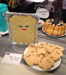 This Doctor Who Cookie Begs To Be Moisturized…With Tea! Lady Cassandra sugar cookies