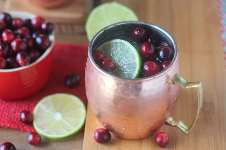 Cranberry is a perfect addition to the traditional Moscow Mule. You'll want to serve these easy Cranberry Moscow Mules at every party this fall and winter!