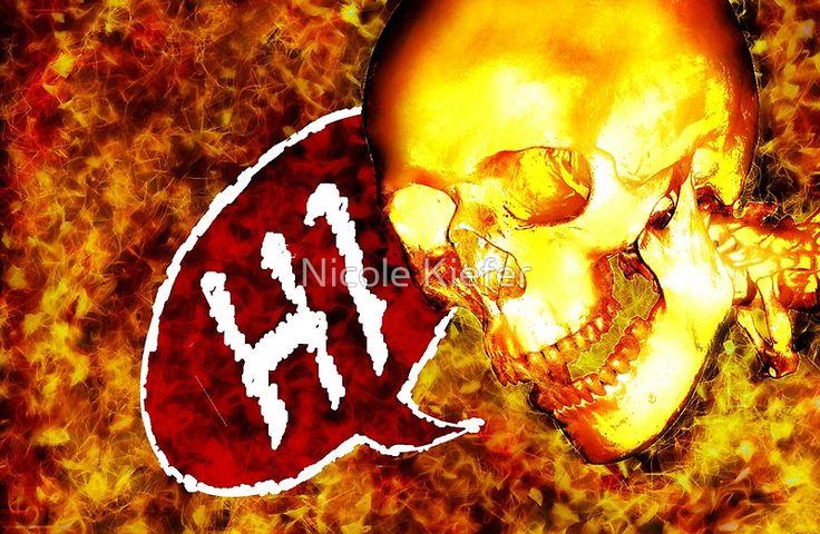 Skull says HI