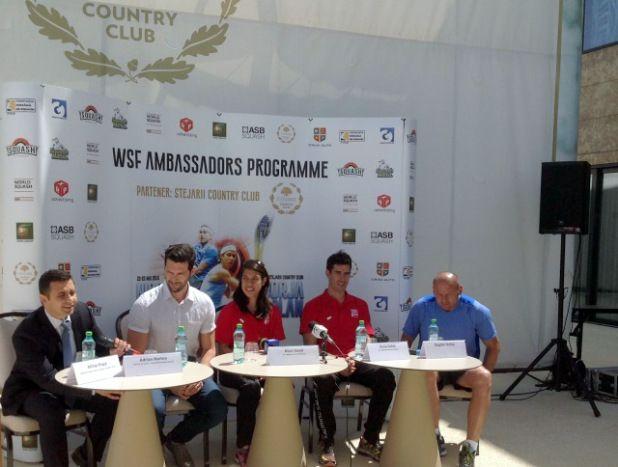 WSF Ambassador Programme – proiect lansat in 2011 de Federatia Mondiala pentru a promova squash-ul a vizat, in turneul din mai 2015, prin ambasadorii sai Nicol David si Borja Golan, Serbia, Bulgaria, Romania, Croatia. http://www.squashmania.ro/ambasadorii-wsf-in-romania-nicol-david-borja-golan/