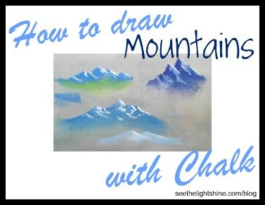 How to Draw Mountains with Chalk (Pastel)  #art #tutorial #homeschool