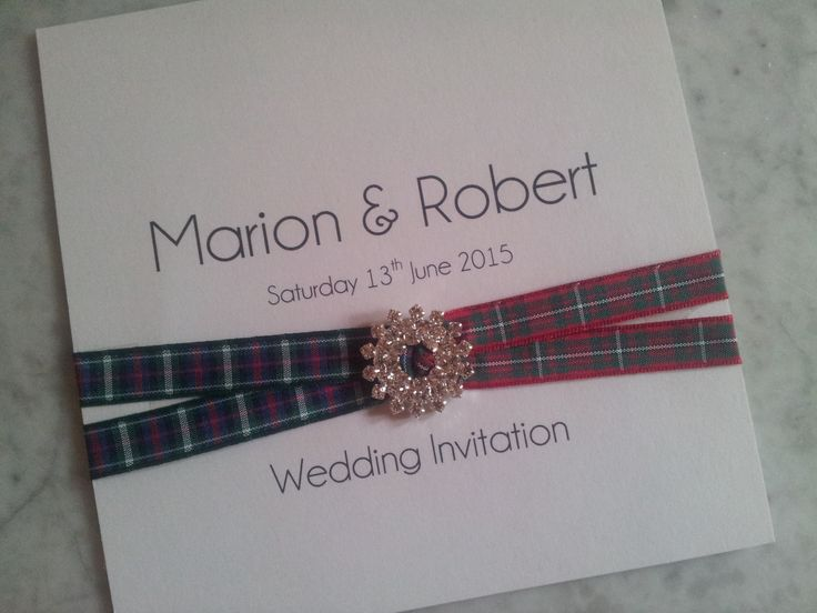 The Ella Collection, the bride and groom were both Scottish, so used their tartan ribbon for their wedding invitations, which I thought was such a fantastic idea!