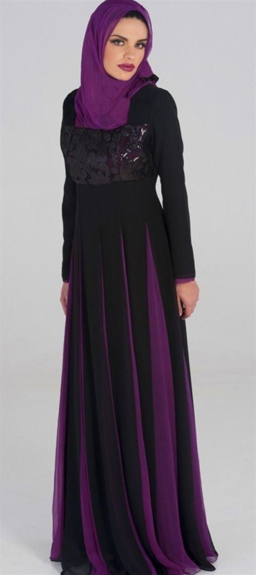 Purple Abaya Dress ( 5 )
