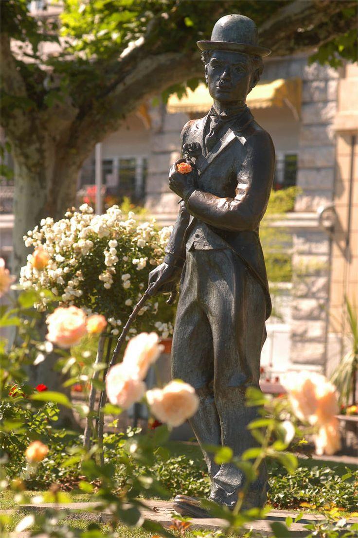 Charlie Chaplin Statute in Montreux Vevey am Genfersee  (c) Montreuxriviera.com