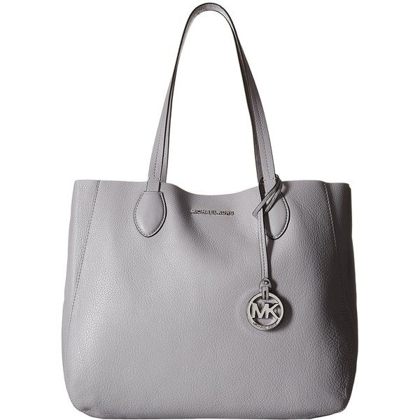MICHAEL Michael Kors Mae Large East/West Tote (Dove/Lilac) Tote... ($210) ❤ liked on Polyvore featuring bags, handbags, tote bags, grey, michael michael kors tote, gray purse, grey shoulder bag, tote handbags and handbags totes