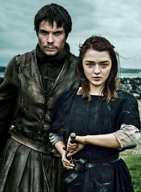 Gendry and Arya The way Stark and Baratheon should've been united.