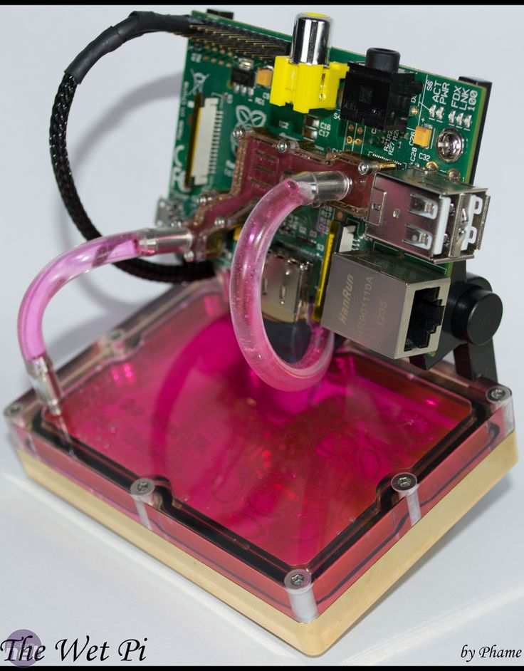 Water-cooled Raspberry Pi computer completed *Water-cooled Raspberry Pi computer completed