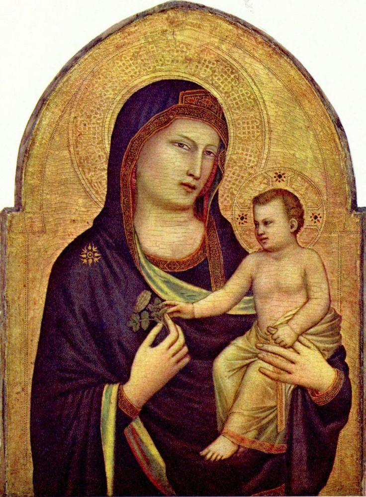 GIOTTO Vierge à l'enfant, Peinture sur bois, (v. 1320), National Gallery of Art, Washington D.C.