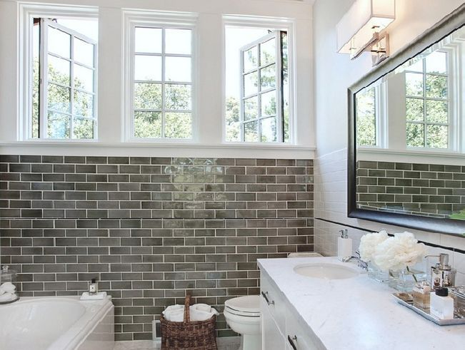 subway tile bathrooms | Related Subway Tile Bathroom Works