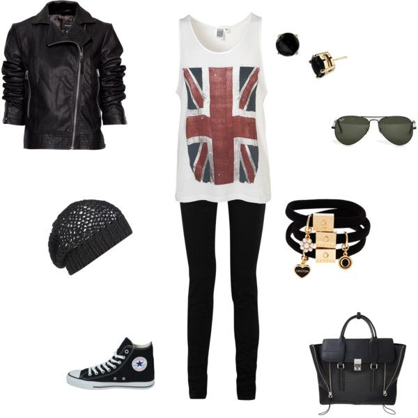 Punk chic, created by arjeux on Polyvore