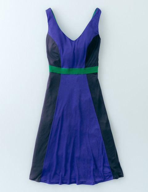 Louisa Colourblock Dress WW020 Day Dresses at Boden