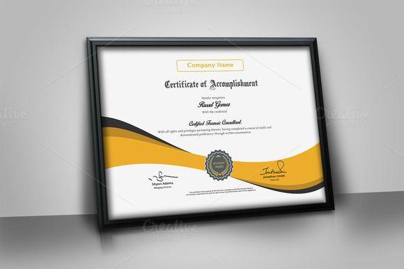 Multipurpose Certificate by artisanHR on @creativemarket